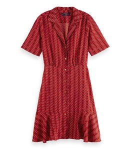 SCOTCH AND SODA SUMMER SHIRT DRESS - 336 - RED