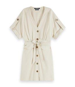 SCOTCH AND SODA SAFARI DRESS - 109 - BEIGE -