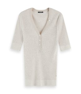 SCOTCH AND SODA RIB TEE - 098 - LT GREY -