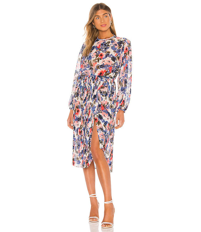 JULIANA DRESS - BLUE FLORAL