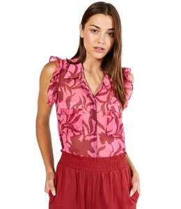 MISA JESSICA TOP - RED PINK FLORAL