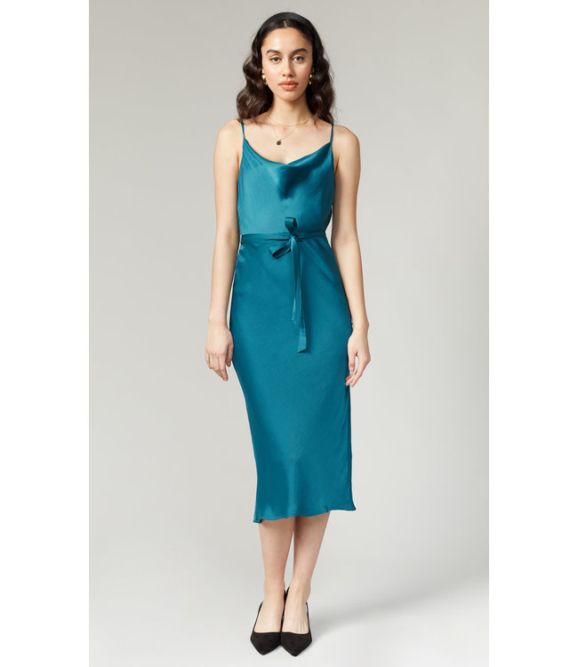 KEVA SLIP DRESS - TEAL -