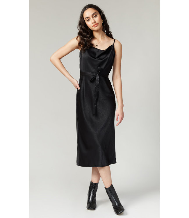 GREYLIN KEVA SLIP DRESS - BLACK -
