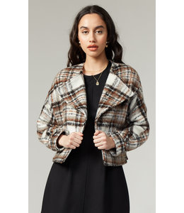 DASIA MOTO JACKET - PLAID