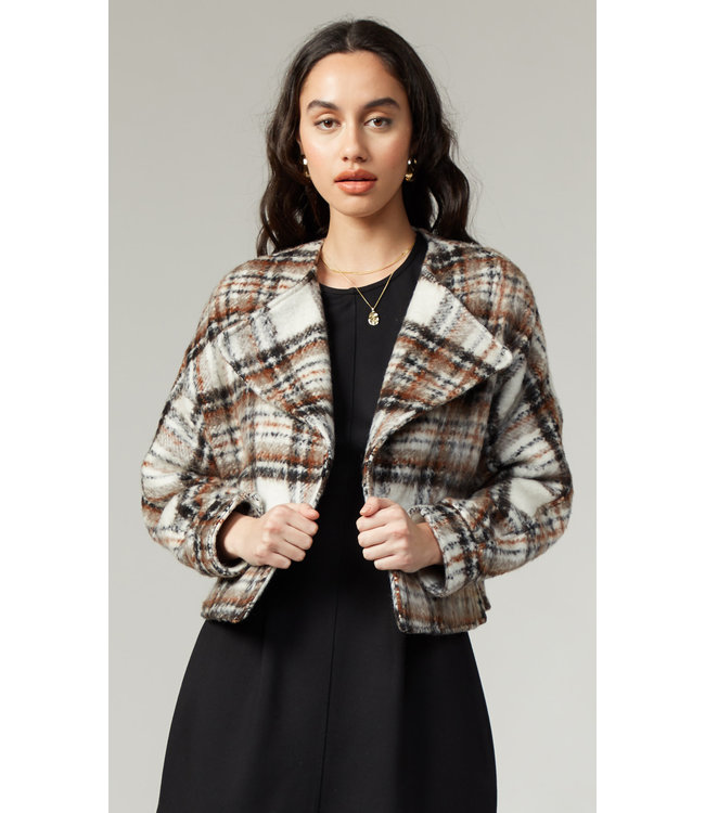 GREYLIN DASIA MOTO JACKET - PLAID