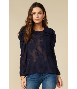 ADELYN RAE ADRIANNA TOP - NAVY -