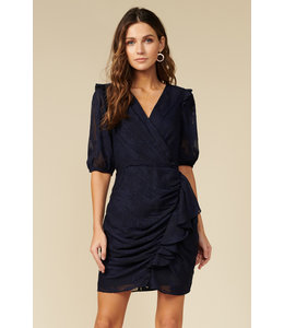 ADRIANNA WRAP DRESS - NAVY -