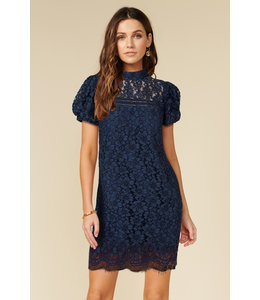 ADELYN RAE KAIA LACE DRESS - NAVY -