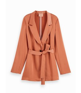 SCOTCH AND SODA SATIN BLAZER - 159 - COPPER