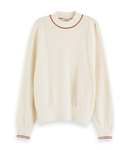 SCOTCH AND SODA SPORTY CREWNECK - 202 - CREAM