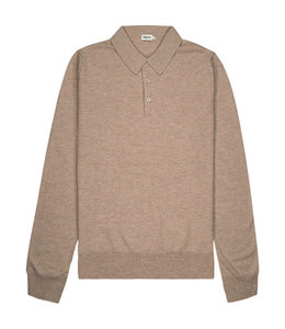 Knitted Polo Shirt - 25977 - TAUPE