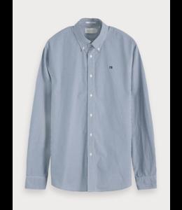 POPLIN SHIRT - 655 - BLUE CHECKERED