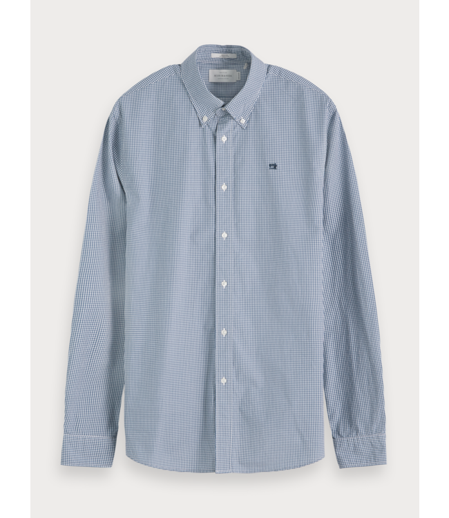 SCOTCH AND SODA POPLIN SHIRT - 655 - BLUE  CHECKERED