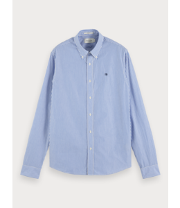 SCOTCH AND SODA POPLIN SHIRT - 655 - BLUE STRIPED