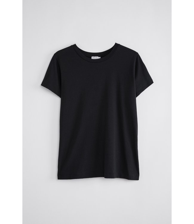 Filippa K COTTON TEE 1433 - BLACK -