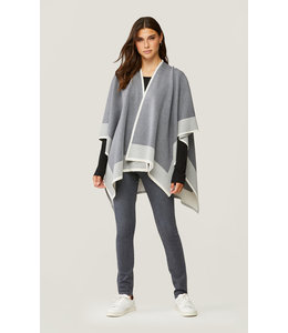 SOIA & KYO DONA KNIT WRAP - GREY OS