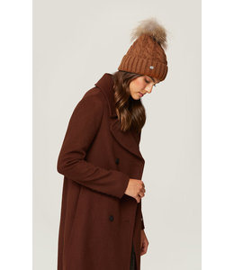 SOIA & KYO AMALIE CABLE KNIT HAT - CAMEL
