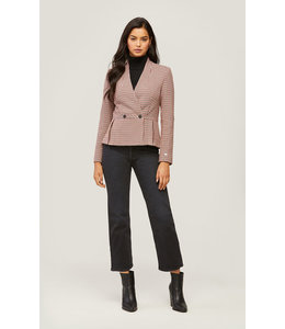 SOIA & KYO AERIN FIT AND FLARE BLAZER -