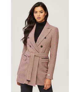 SOIA & KYO FLORIANA SEMI-FITTED BELTED BLAZER -