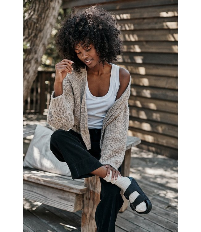 VELVET YUNA SOLID SWEATER OATMEAL-