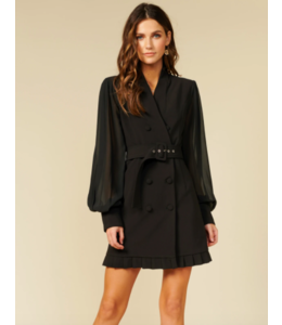 ADELYN RAE AYVA BLACK BLAZER DRESS -