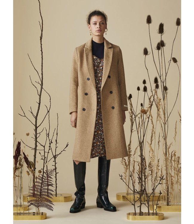 SCOTCH AND SODA TAILORED DOUBLE BREASRED COAT - CAMEL -