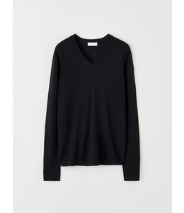 TIGER OF SWEDEN TRAMA PULLOVER VNECK - BLACK -