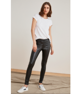 FAUX LEATHER LEGGINS - BLACK