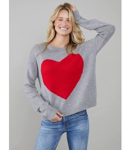 SOUTH PARADE RED HEART SWEATER - GREY -