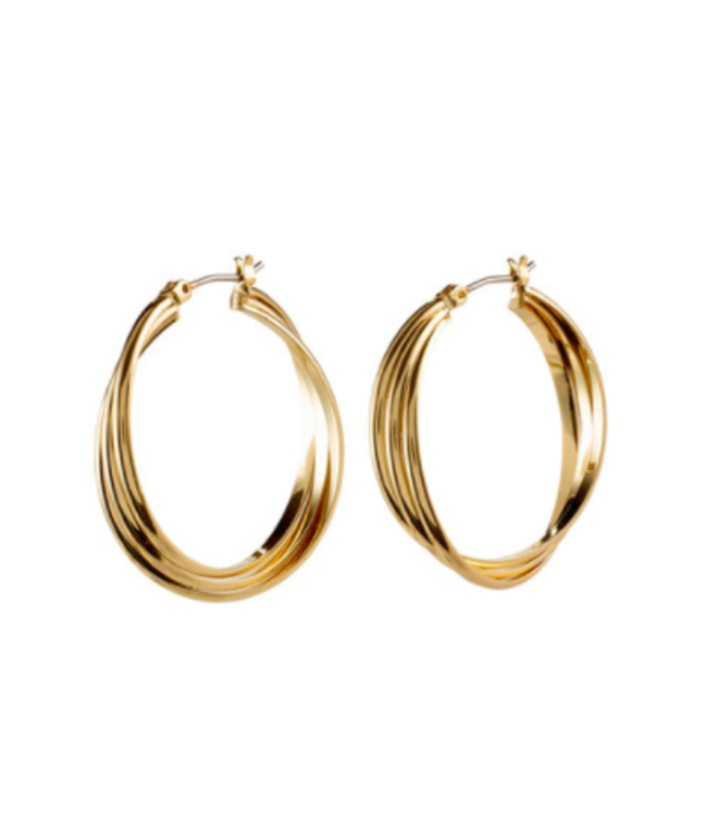 LARGE JENIFER HOOPS- GOLD