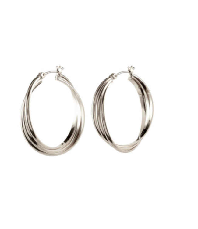LARGE JENIFER HOOPS-GOLD