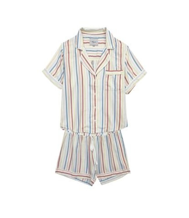 DARCIE SLEEP SET - FIRE ISLAND STRIPE -