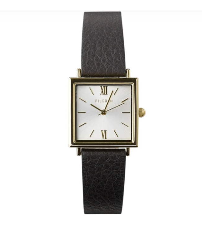 BELL GOLD PLEATED BLACK WATCH- 32102