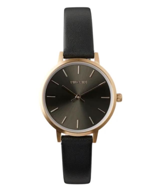 ROSE GOLD & BLACK NERINE WATCH- 34110
