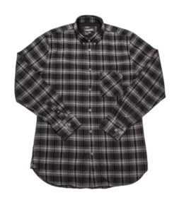 FLANNEL 7F LS -303- BLK/CEMENT