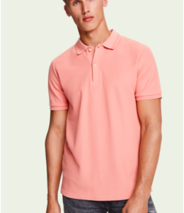 SCOTCH AND SODA CHIC POLO - 414 - SALMON