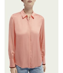 SCOTCH AND SODA BASIC BUTTON DOWN SHIRT - 871 - CORAL -