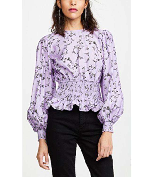 SECURE LS TOP - LILAC FLORAL