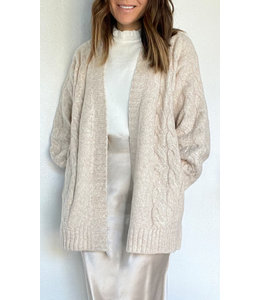 CADELLE HEATHERED COCOON CARDIGAN -