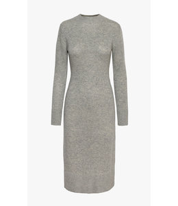 MARLOW SWEATER KNIT MIDI DRESS -  GREY -
