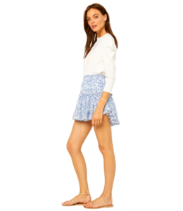 MARION SKIRT - BLUE PETAL -