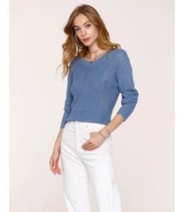 ELKE SWEATER - CHAMBRAY -