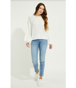 GENTLE FAWN FONDA SWEATER - WHITE -