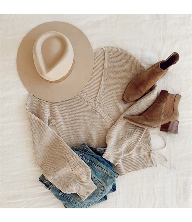 GENTLE FAWN CAMILLE SWEATER - OATMEAL -