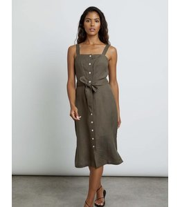 RAILS CLEMENT MIDI DRESS - ARMY GREEN -