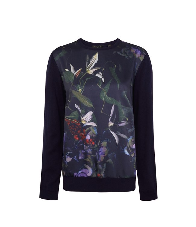 ROUGGE SWEATER - NAVY FLOWER -