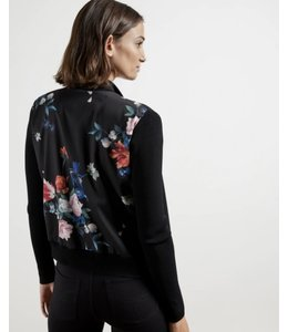 TED BAKER - CHESIEY PRINTED BACK CARDI -
