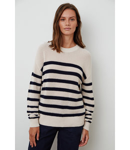 WREN TEXTURED COTTON STRIPED SWEATER -