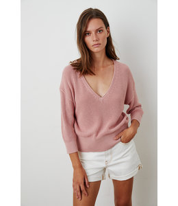 HANA TEXTURED COTTON TOP - BLUSH -