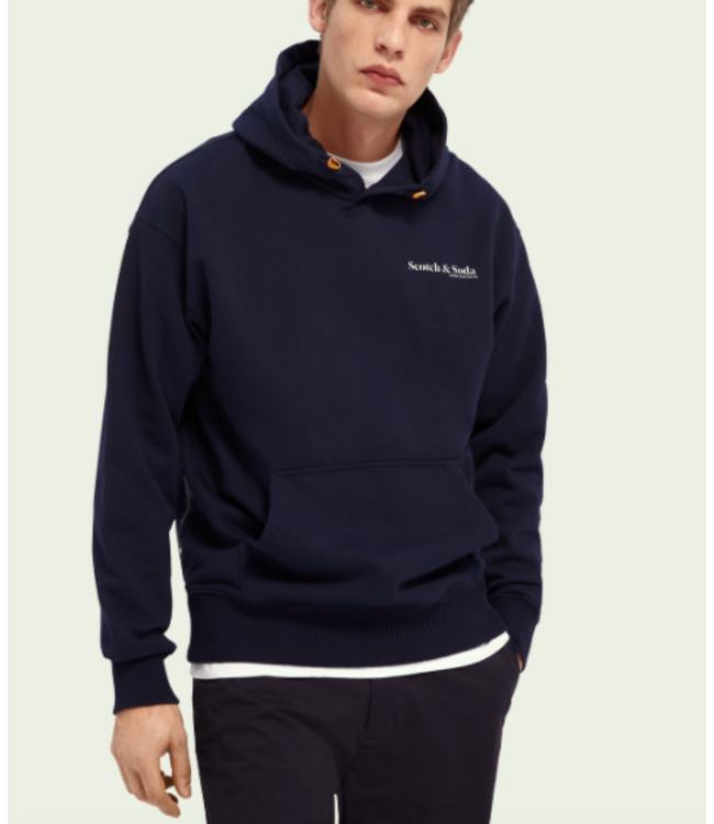 SCOTCH AND SODA ORGANIC COTTON HOODIE - NAVY - 160814 -